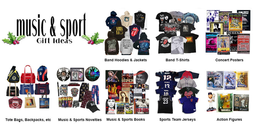 Great sports and rock & roll gifts