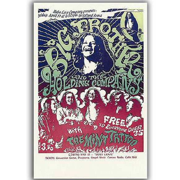 Janis Joplin Reproduction Poster, 1969