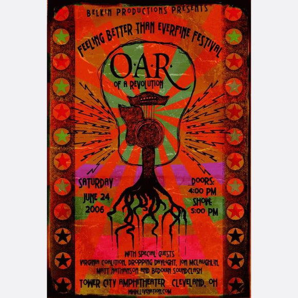 OAR Of A Revolution Poster Rock Concert Tour Handbill