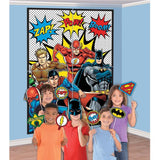 Justice League Scene Setters Wall Decoration with Photo Props