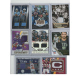 Lot of 8 Football Jersey Cards