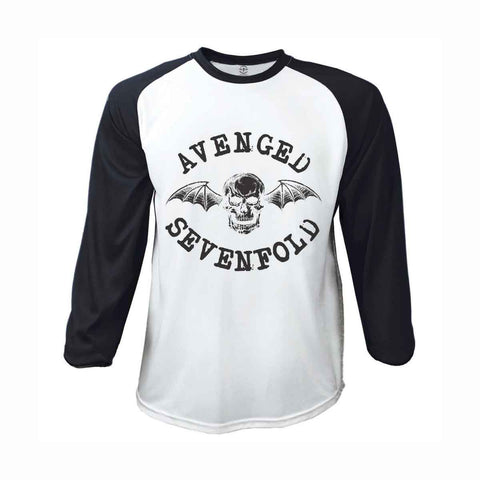 Avenged Sevenfold Classic Deathbat Raglan Baseball Shirt
