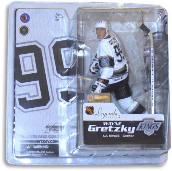 Wayne Gretzky McFarlane Legends Action Figure LA Kings White Uniform