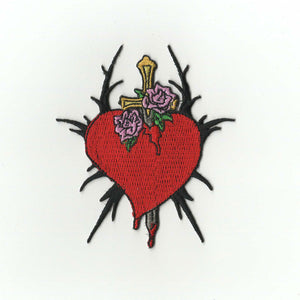 Stabbed through the Heart Embroidered Patch