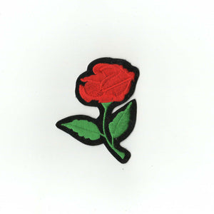 Simple Rose Embroidered patch