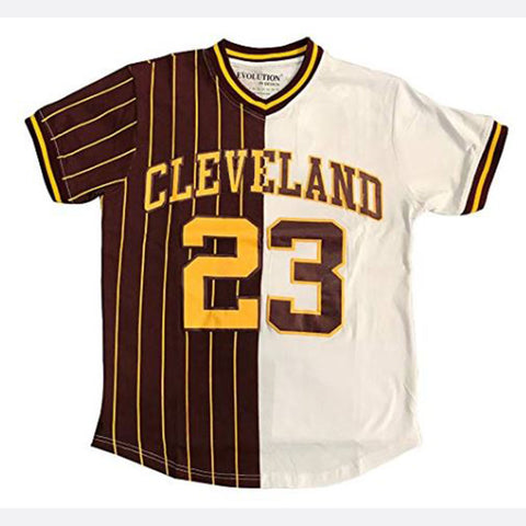 Mens Color Block Cleveland King 23 Graphic T-Shirt