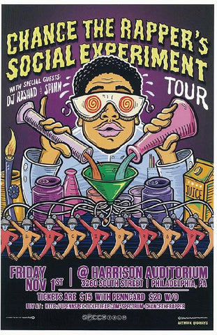 Chance the Rapper Concert Poster - Social Experiment , Philadelphia, 2013