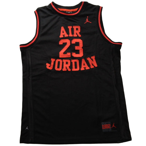 Air Jordan Youth Jersey, Black w/Orange Lettering