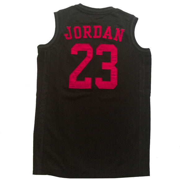 Air Jordan Youth Jersey, Black w/Red Lettering
