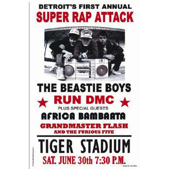 The Beastie Boys & Run DMC Concert Poster
