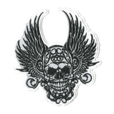 Flying Skull in Black & White