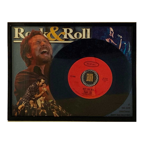 Eddie Vedder Pearl Jam 45 Record Collage