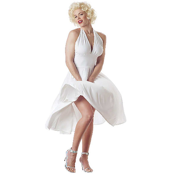 Sexy Marilyn Monroe White Halter Dress Dress Costume