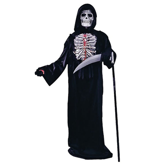 Boys Bleeding Skeleton Costume w Hand Held Blood Pump