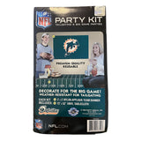 Miami Dolphins Tailgate Party Kit W/Banner & Tablecloth