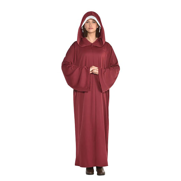 Adult Red Hooded Robe Costume