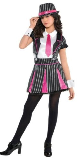 Girls Gangster Doll Costume
