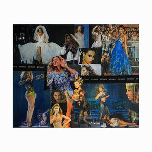 Beyonce Collage on Canvas Panel