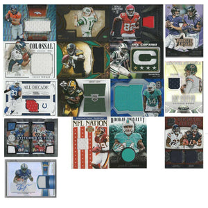 16  NFL Card Lot - Jersey Football Cards, 2011-2016