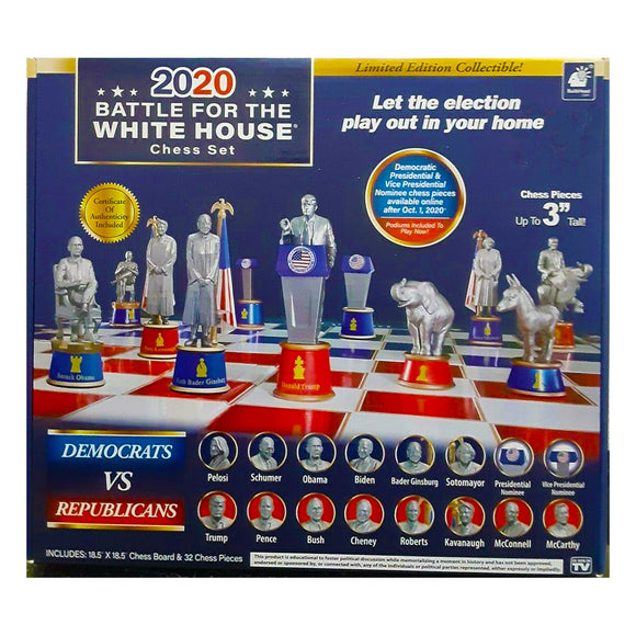2020 Battle for the White House Chess Set Dems vs Reps