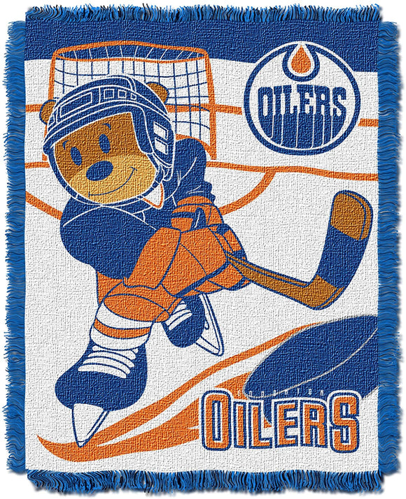 NHL Edmonton Oilers Baby Woven Jacquard Throw Blanket