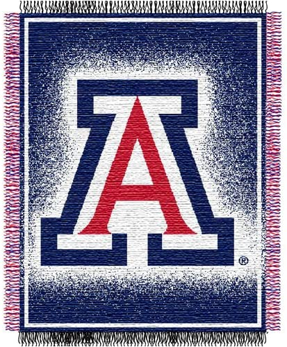 Arizona Wildcats NCAA Triple Woven Jacquard Throw, 48x60