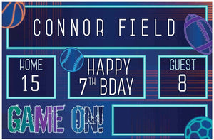 Birthday Baller Personalized Stadium Scoreboard Sign