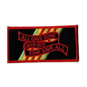 All gave some gave all embroidered iron on patch