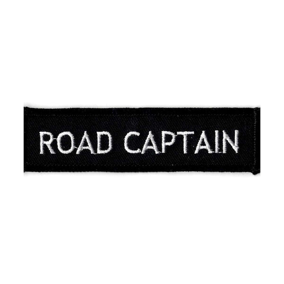 Road Captain embroidered iron on patch