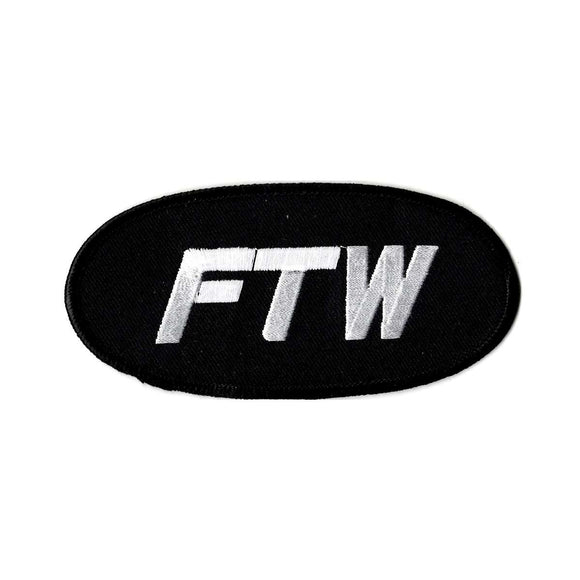 FTW embroidered iron on patch