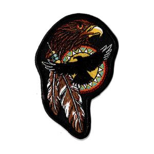 Eagle feather embroidered iron on patch