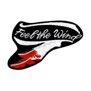 Feel The Wind embroidered iron-on patch
