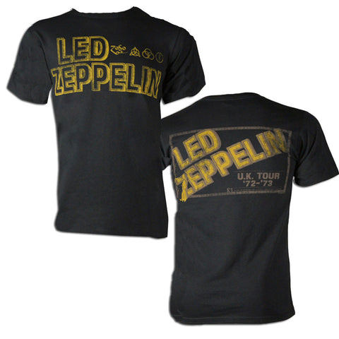 Led Zeppelin Square Gold Logo T-shirt - Rock N Sports