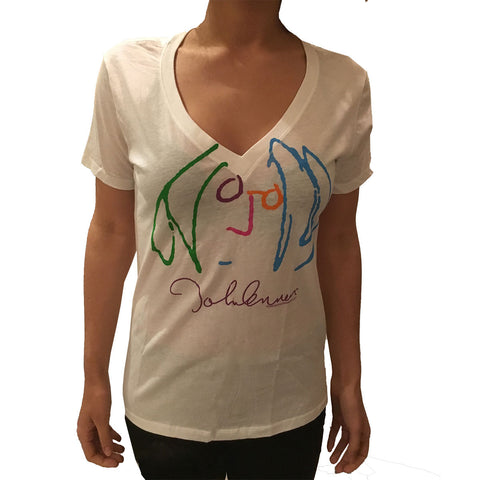 John Lennon Self Portrait T-shirt, Women's Babydoll - Rock N Sports - 1