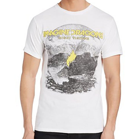 Imagine Dragons Night Visions White T-Shirt - Rock N Sports