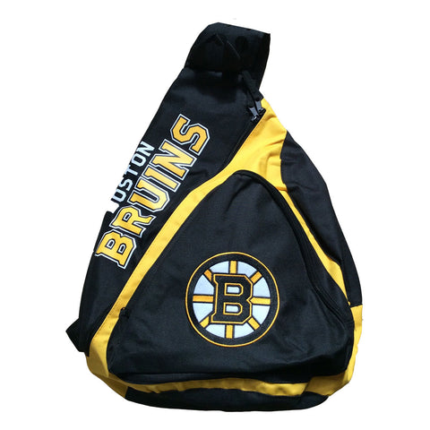 Boston Bruins Black Slingback Backpack NEW School Bookbag