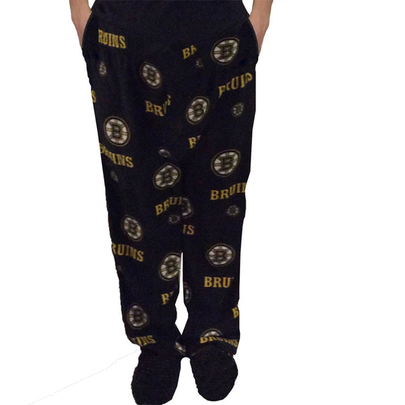 Boston Bruins Men's Micro Fleece Pajama Pants - Medium