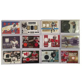 NFL Football Jersey Cards Lot of 12  2000-2014 S/N Rookie