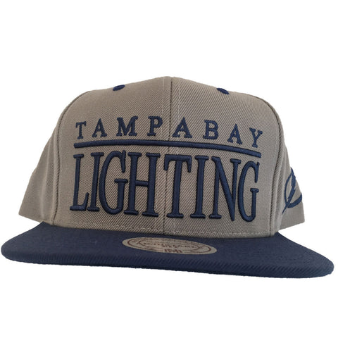 Tampa Bay Lightning Mitchell & Ness NHL Top Shelf Snapback Cap NEW
