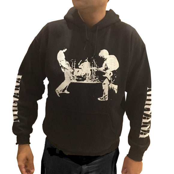 Men's Nirvana Band Black Silhouette Pullover Hoodie