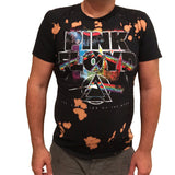 Pink Floyd Dark Side of the Moon Black T-Shirt Bleached