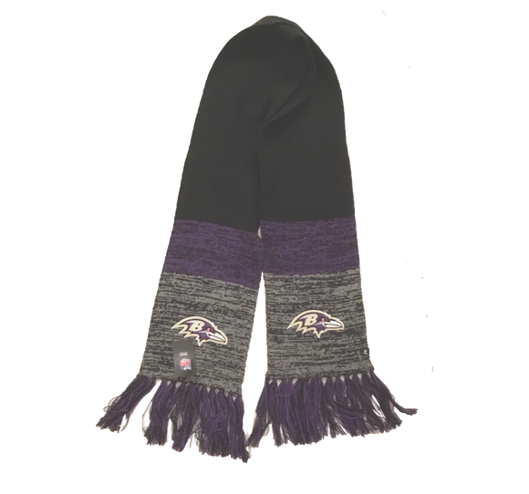NFL Baltimore Ravens Scarf Static Marled Knit NEW '47 Brand