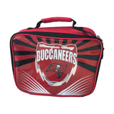 NFL Tampa Bay Buccaneers Insulated Lunch Box Bag Food Cooler Zipper Red NEW