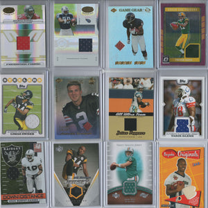 Lot of 12 NFL Football Game Used Jersey Cards 1999-2016