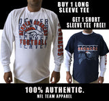 NFL Denver Broncos Mens Long Sleeve T-shirt New XL plus FREE Navy Tee