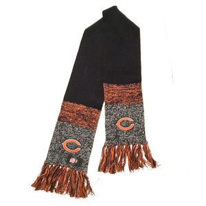 NFL Chicago Bears Scarf Static Marled Knit NEW '47 Brand