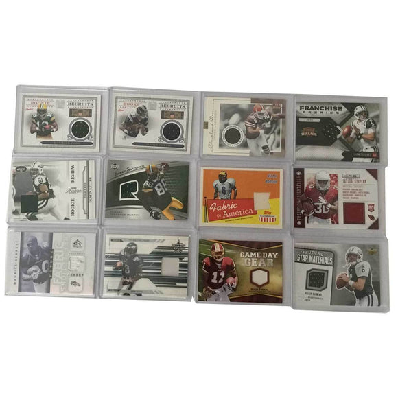 Lot of 12 Cards NFL Jersey Football Cards 2003-2013 Rookie Serial Number in Case