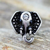 Jeweled Elephant Cartilage Earring, 316L Stainless Steel