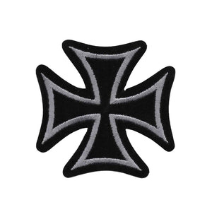 Black Iron Cross Patch New