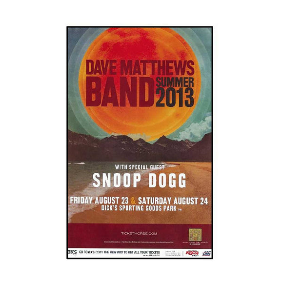 Dave Matthews Band & Snoop Dog Concert Poster